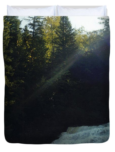 Duvet Cover featuring the photograph Morning Waterfall by Stacy C Bottoms