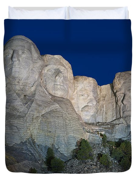 Mount Rushmore Nightfall Duvet Cover by Steve Gadomski
