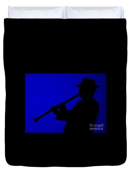 Music Man Duvet Cover by Julie Brugh Riffey