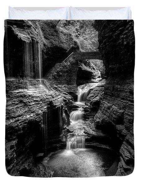 Mystic Falls Duvet Cover by Nick  Shirghio