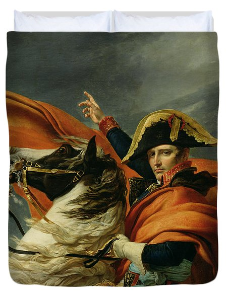 Napoleon Crossing The Alps On 20th May 1800 Duvet Cover by Jacques Louis David