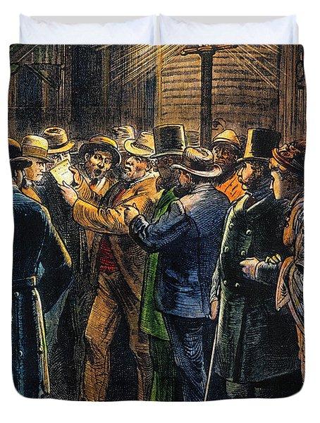 New York: Election, 1876 Duvet Cover