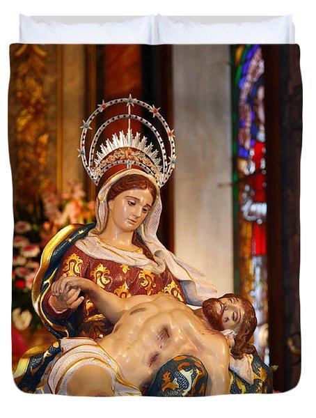 Nossa Senhora Da Piedade Duvet Cover by Gaspar Avila