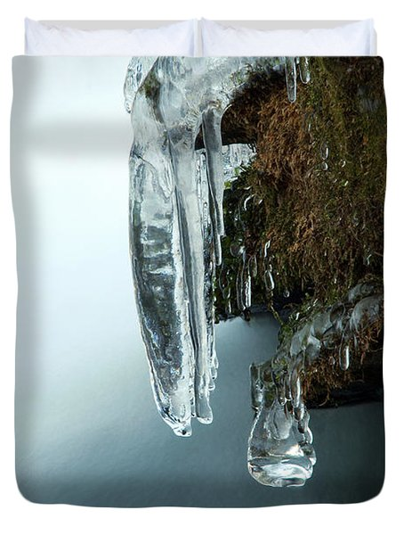 Of Ice And Water Duvet Cover by Darren Fisher