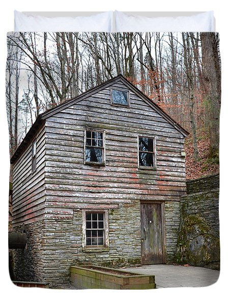 Duvet Cover featuring the photograph Old Grist Mill by Paul Mashburn