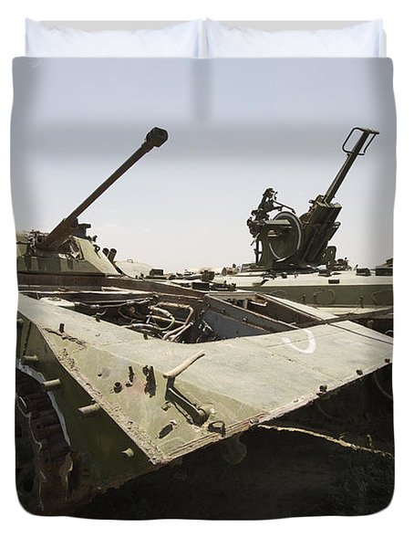 Old Russian Bmp-1 Infantry Fighting Duvet Cover by Terry Moore