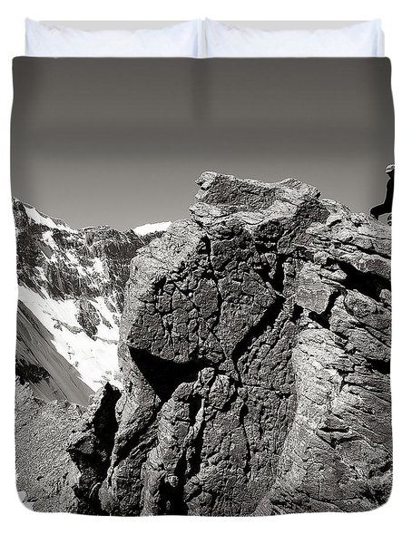 On The Rock Duvet Cover by Konstantin Dikovsky