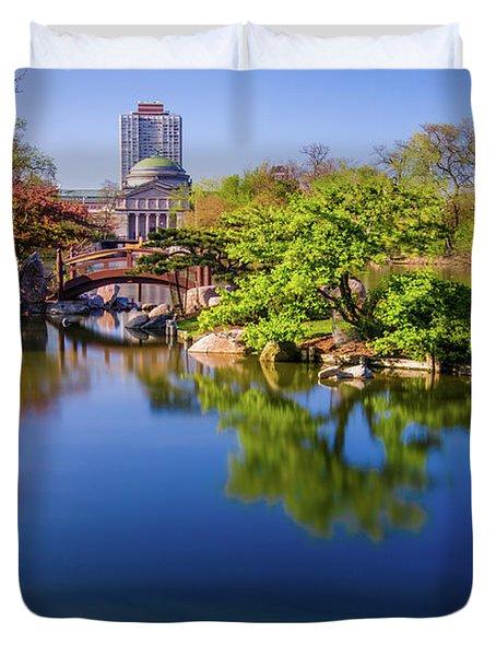 Osaka Japanese Garden Duvet Cover by Jonah  Anderson