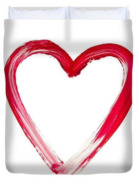 Painted Heart - Symbol Of Love Duvet Cover by Michal Boubin