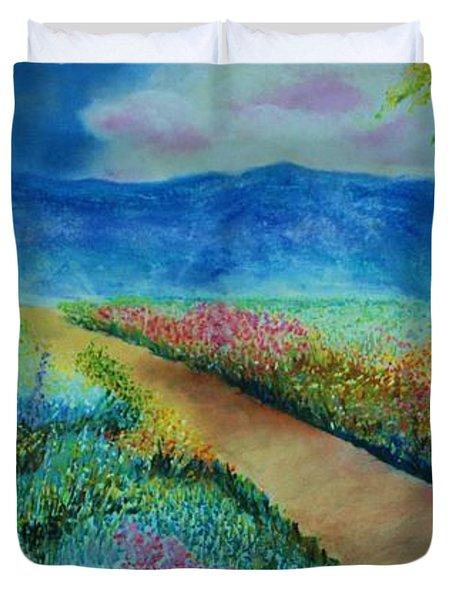 Patricia's Pathway Duvet Cover