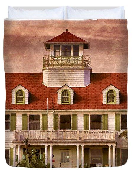 Peanut Island Duvet Cover by Debra and Dave Vanderlaan
