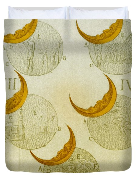 Phases Of An Eclipse Duvet Cover by Science Source