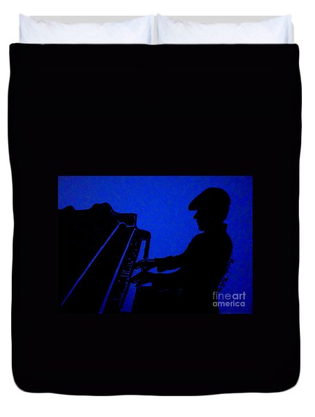 Piano Man Duvet Cover by Julie Brugh Riffey