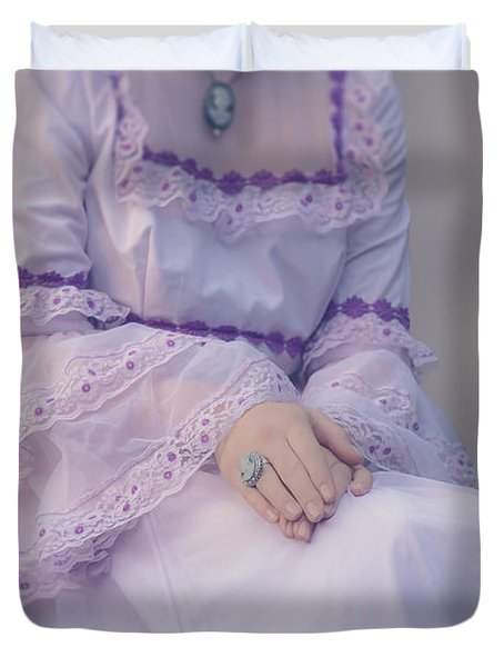 Pink Wedding Dress Duvet Cover by Joana Kruse