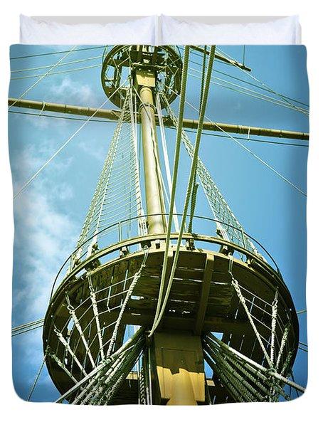 Pirate Ship Duvet Cover by Joana Kruse
