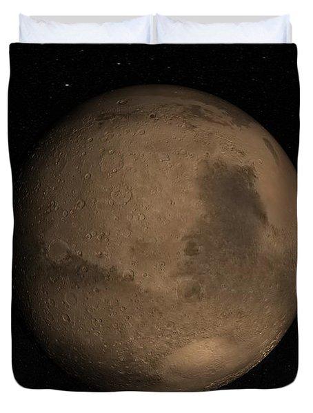 Planet Mars Duvet Cover by Stocktrek Images