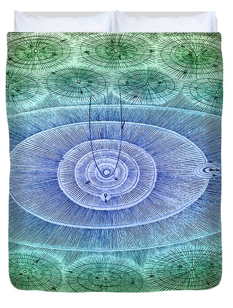 Plurality Of Worlds, Leonhard Euler Duvet Cover by Science Source