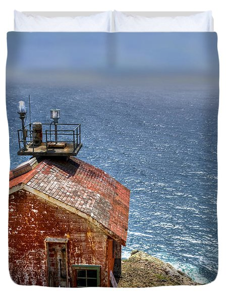 Point Reyes Lighthouse Duvet Cover by Diego Re