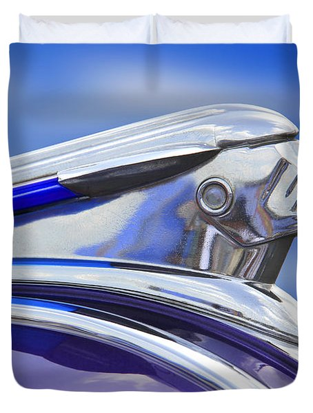 Pontiac Hood Ornament  Duvet Cover by Mike McGlothlen