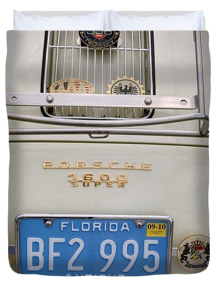 Porsche 1600 Super 1959 Rear View. Miami Duvet Cover