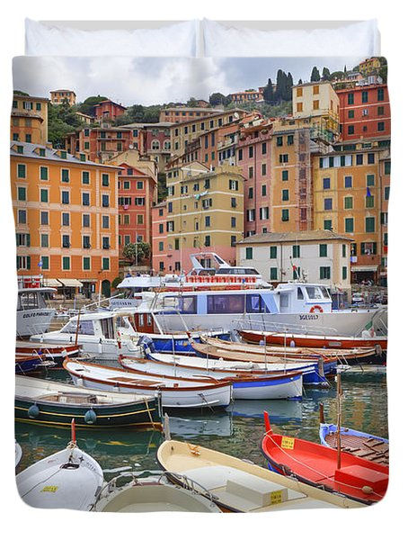Port Of Camogli Duvet Cover by Joana Kruse