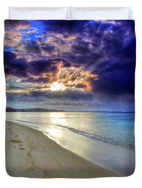 Port Stephens Sunset Duvet Cover