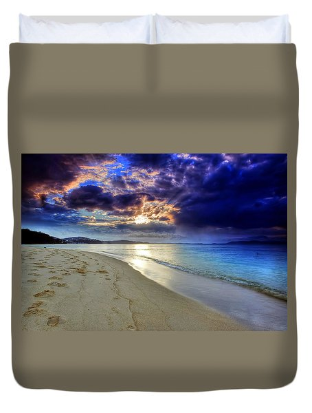 Port Stephens Sunset Duvet Cover