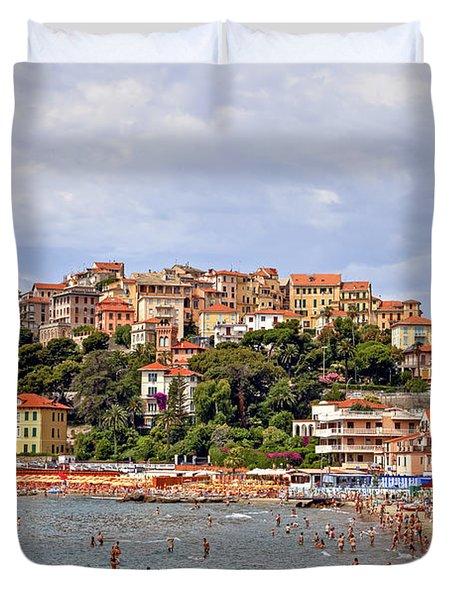 Porto Maurizio - Liguria Duvet Cover by Joana Kruse