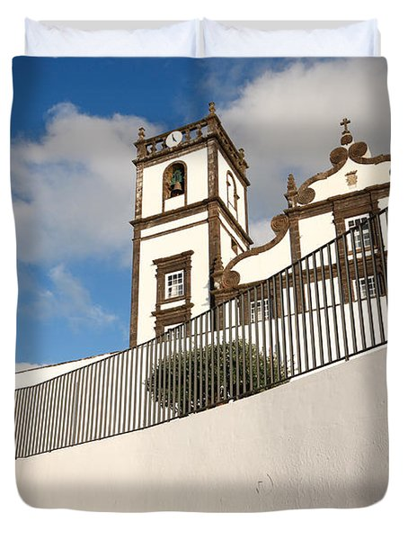 Portuguese Church Duvet Cover by Gaspar Avila