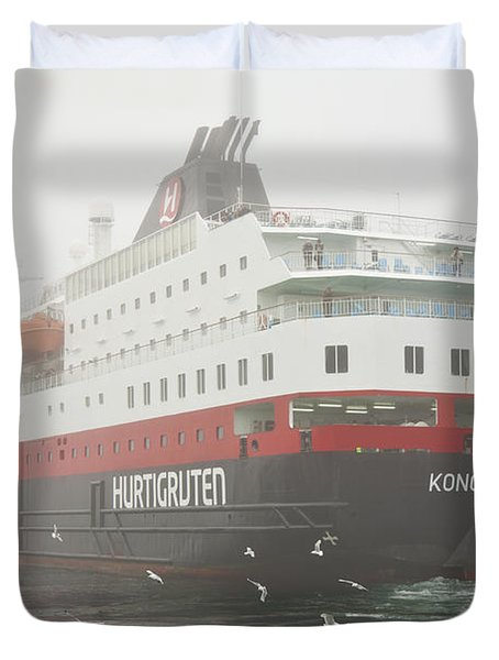 Post Ship  Duvet Cover by Heiko Koehrer-Wagner