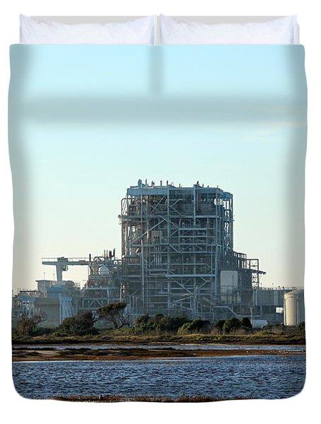 Power Station Duvet Cover by Henrik Lehnerer