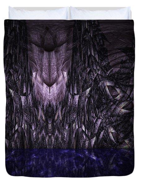 Purple Caverns Duvet Cover by Christopher Gaston