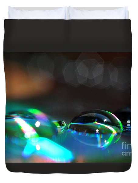 Rainbow Drops Duvet Cover