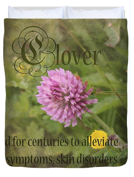 Red Clover Duvet Cover by Carole Lloyd
