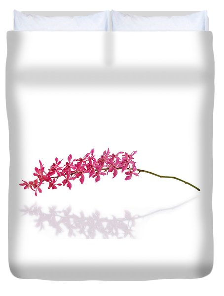 Red Orchid Duvet Cover by Atiketta Sangasaeng