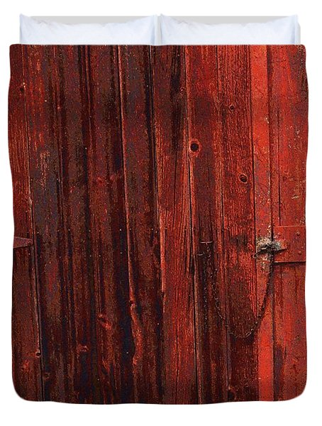 Red Shed Duvet Cover by RC DeWinter