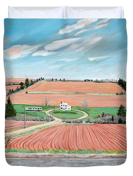 Red Soil On Prince Edward Island Duvet Cover
