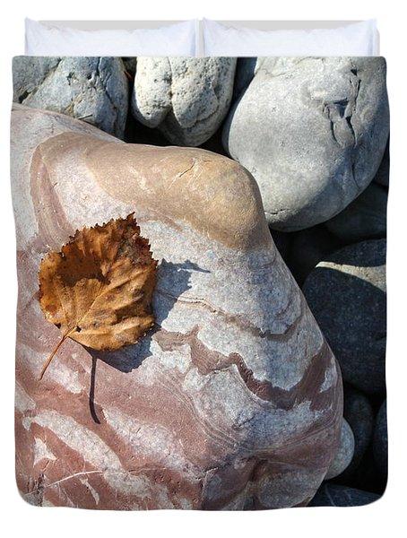 River Rocks Mountain Stream Duvet Cover