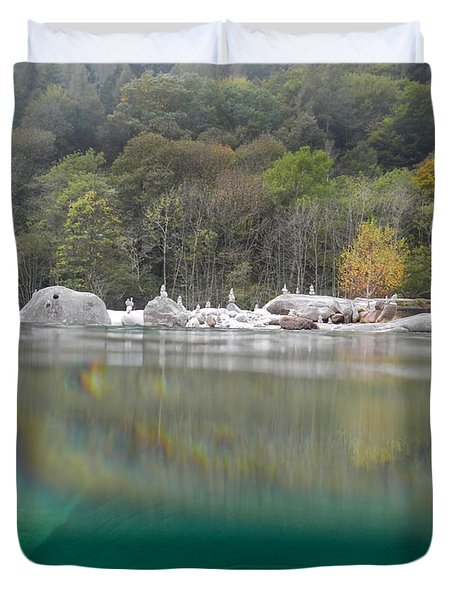River With Trees Duvet Cover by Mats Silvan