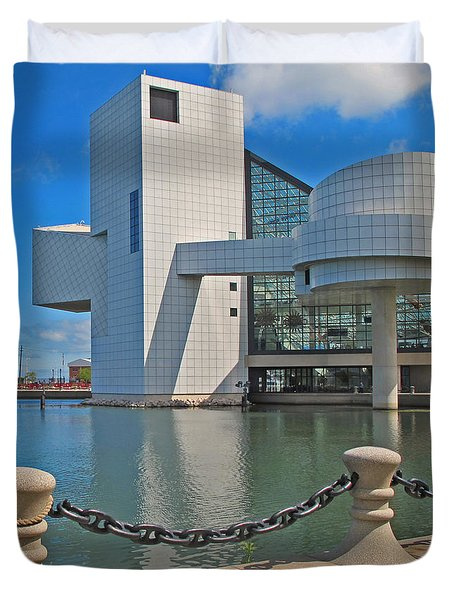 Rock And Roll Hall Of Fame Duvet Cover by Dave Mills