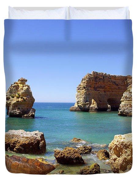 Rocky Coast Duvet Cover by Carlos Caetano