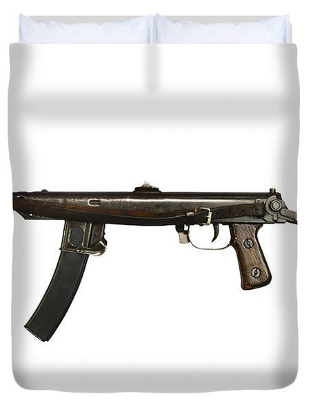 Russian Pps-43 Submachine Gun Duvet Cover by Andrew Chittock