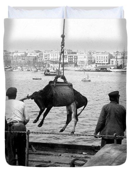 San Juan Harbor - Puerto Rico - C 1900 Duvet Cover by International  Images