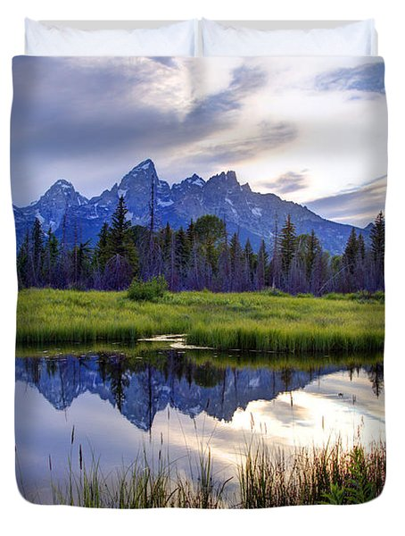 Schwabacher Landing - Grand Teton National Park Duvet Cover
