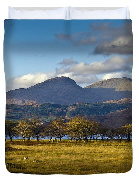 Scottish Landscape View Duvet Cover
