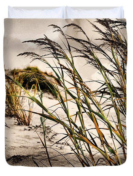 Sea Oats Duvet Cover by Kristin Elmquist