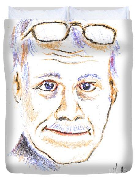Self-portrait Duvet Cover by Kip DeVore