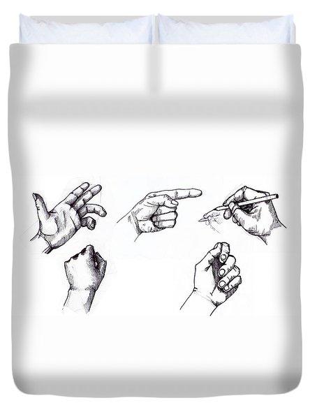 Duvet Cover featuring the drawing Sketchbook by Mariusz Zawadzki