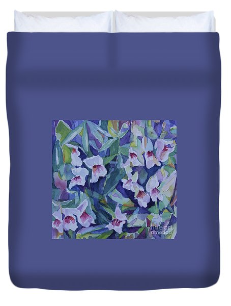 Snap Dragons Duvet Cover by Jan Bennicoff
