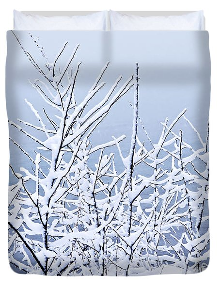 Snowy Trees Duvet Cover by Elena Elisseeva